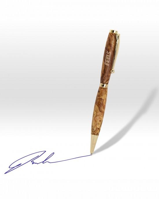 Χειροποίητο στυλό από ξύλο ελιάς