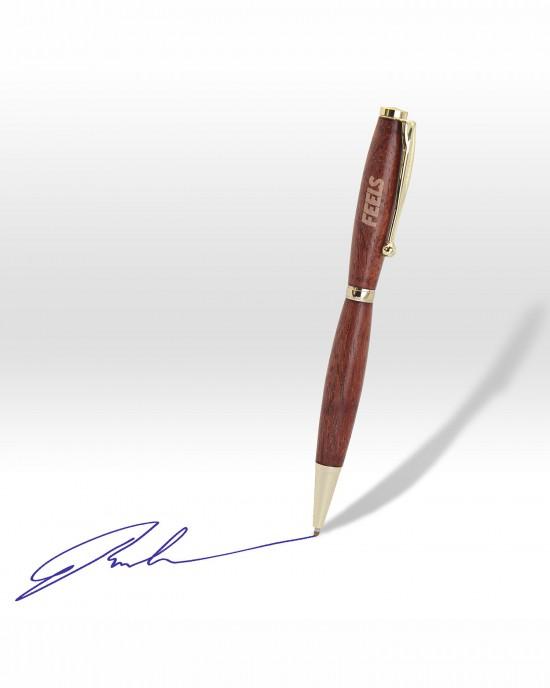 Χειροποίητο στυλό από ξύλο τριανταφυλλιάς