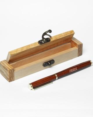 Χειροποίητο στυλό από ξύλο τριανταφυλλιάς σε ξύλινο κουτάκι